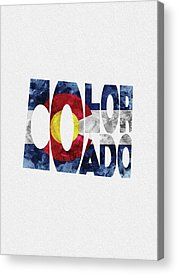 Fort Collins Paintings Acrylic Prints