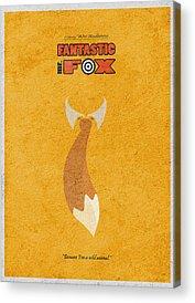 Fox Digital Art Acrylic Prints