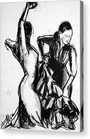 Abstract Movement Drawings Acrylic Prints