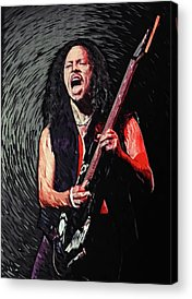 Dave Mustaine Acrylic Prints