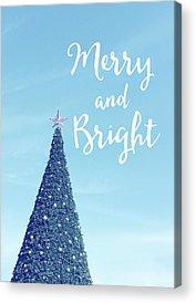 Christmas Tree Photographs Acrylic Prints