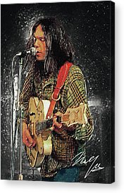 Neil Young Acrylic Prints