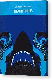 Sharks Digital Art Acrylic Prints