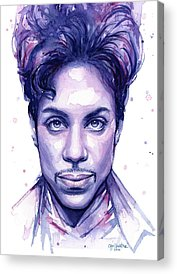 Musician Paintings Acrylic Prints