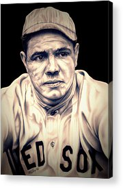 Babe Ruth Drawings Acrylic Prints
