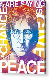John Lennon Drawings Acrylic Prints