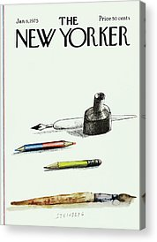 Writing Instrument Paintings Acrylic Prints