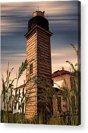 New England Lighthouse Digital Art Acrylic Prints