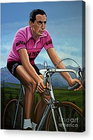 Cyclist Acrylic Prints
