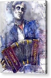 Jazz Musician Acrylic Prints