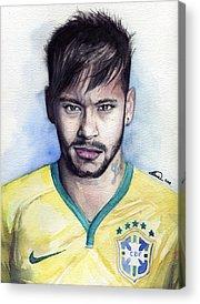 Neymar Acrylic Prints