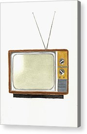 Television Paintings Acrylic Prints