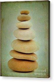 Stones Digital Art Acrylic Prints