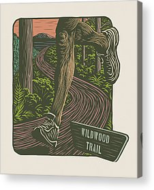 Woodcut Acrylic Prints