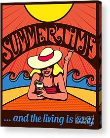 Sunbathing Acrylic Prints