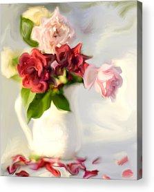 Shabby Chic Roses Acrylic Prints