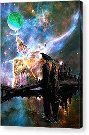 Hubble Telescope Paintings Acrylic Prints