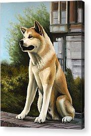 Huskies Paintings Acrylic Prints