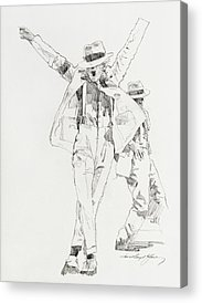 Famous People Drawings Acrylic Prints