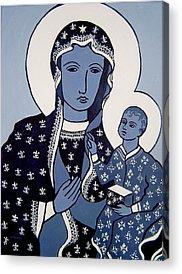 Black Madonna Acrylic Prints