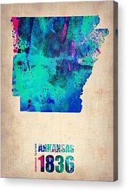 Arkansas Digital Art Acrylic Prints