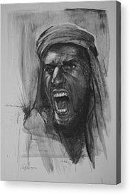 Paul Autodore Drawings Acrylic Prints