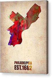 Philadelphia Digital Art Acrylic Prints