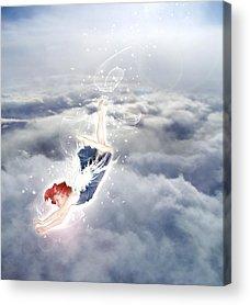 Angel Of Peace Acrylic Prints