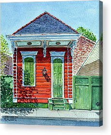 Shotgun Houses Acrylic Prints