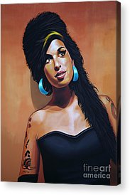 Blues Singer Amy Winehouse Acrylic Prints