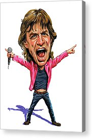 Rock N Roll Music The Rolling Stones Acrylic Prints
