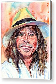 Steven Tyler Rock Music Acrylic Prints