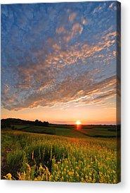 Golden Skies Acrylic Prints