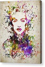 Madonna Digital Art Acrylic Prints