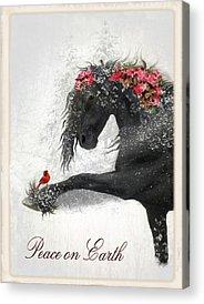 Christmas Cards Digital Art Acrylic Prints