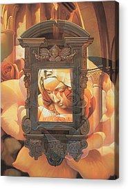 Virgin Mary Mixed Media Acrylic Prints