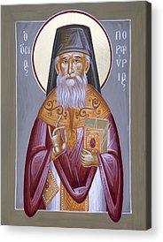 St Porphyrios Paintings Acrylic Prints