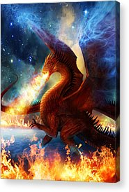 Celestial Paintings Acrylic Prints