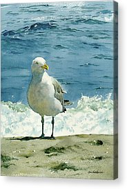 Ocean Shore Paintings Acrylic Prints
