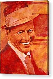 Frank Sinatra Paintings Acrylic Prints