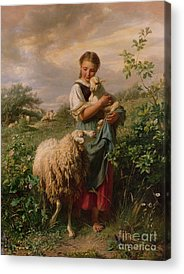 The Shepherdess Acrylic Prints