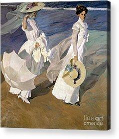 White Dress Acrylic Prints