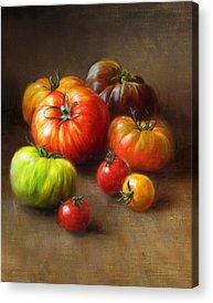 Vegetables Paintings Acrylic Prints