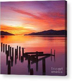 Orange Sunrise Acrylic Prints
