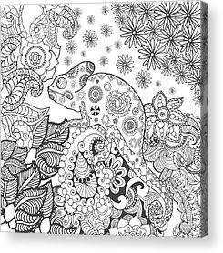 Cut Flowers Acrylic Prints