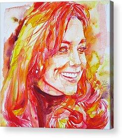 Kate Middleton Paintings Acrylic Prints