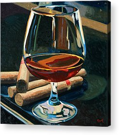 Martini Paintings Acrylic Prints