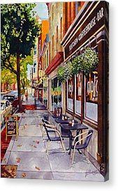 Sidewalk Cafe Acrylic Prints