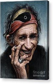 Rolling Stones Keith Richards Acrylic Prints