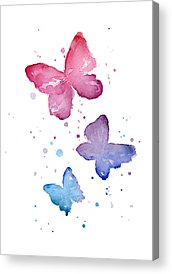 Blue Butterfly Acrylic Prints